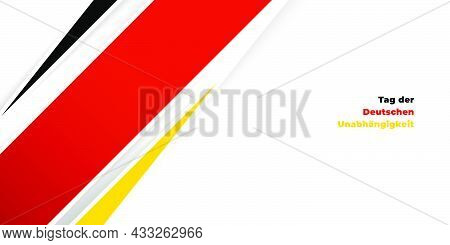 Black, Red, And Yellow Abstract Geometric Background Design. Germany Text Mean Is German Independenc