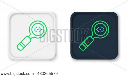 Line Magnifying Glass Icon Isolated On White Background. Search, Focus, Zoom, Business Symbol. Color