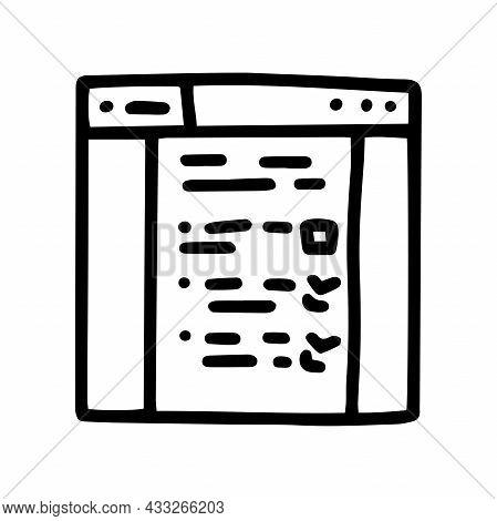 Line Vector Doodle Simple Icon Webpage Questionnaire