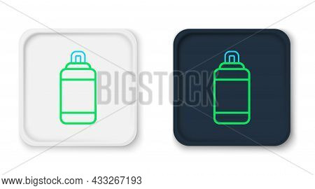 Line Punching Bag Icon Isolated On White Background. Colorful Outline Concept. Vector
