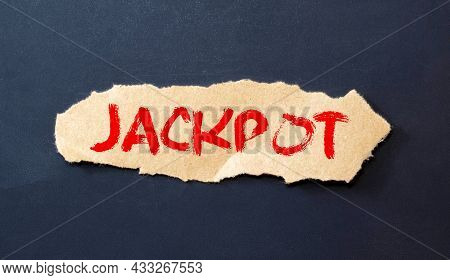 The Word Of Jackpot On Building Blocks Concept.