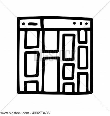 Online Gallery Line Vector Doodle Simple Icon