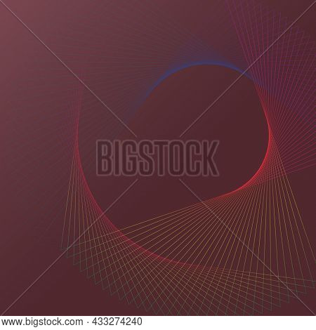 Spiral wireframe pattern technology background in red tone
