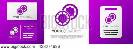 Logotype Casino Chips Icon Isolated On White Background. Casino Gambling. Logo Design Template Eleme