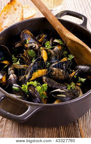 mussels cooked