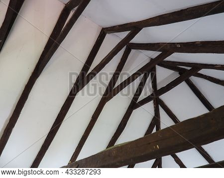 Fachwerk, A Frame Construction Typical Of The Peasant Architecture Of Many Countries Of Europe. Prus