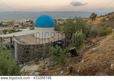 Tiberias, Israel - September 12, 2021: View Of The Tombs Of Rabbi Hiya & His Sons, Huna Reish Galuta