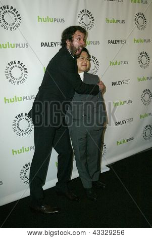 BEVERLY HILLS - MARCH 14:  Jonathan Kite and Matthew Moy arrive at the 2013 Paleyfest