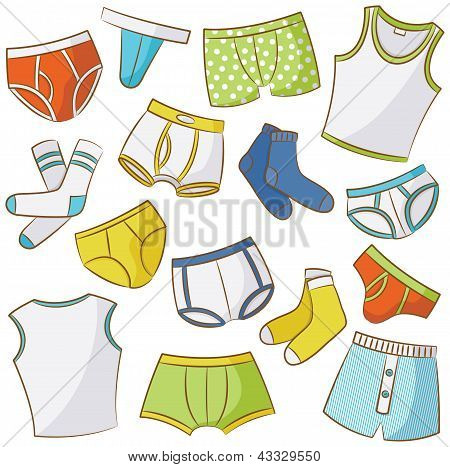 Male Underwear Icon Set