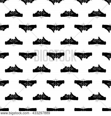 Friends Fist Knock Pattern Seamless Background Texture Repeat Wallpaper Geometric Vector