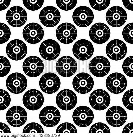 Modern Aim Pattern Seamless Background Texture Repeat Wallpaper Geometric Vector