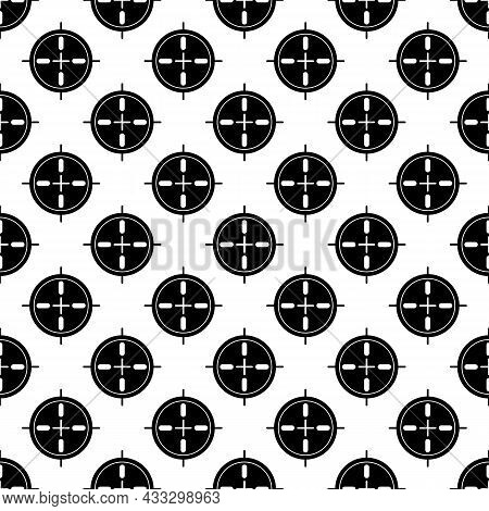 Sport Sniper Aim Pattern Seamless Background Texture Repeat Wallpaper Geometric Vector