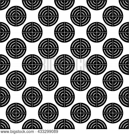 Optical Aim Pattern Seamless Background Texture Repeat Wallpaper Geometric Vector