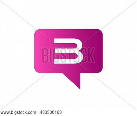 Chat Logo On 3 Letter Concept. Letter 3 Chat Logo. Letter 3 Communication Logo Design Template