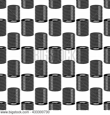 Spiral Spring Pattern Seamless Background Texture Repeat Wallpaper Geometric Vector