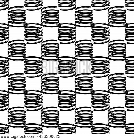 Cable Spring Pattern Seamless Background Texture Repeat Wallpaper Geometric Vector