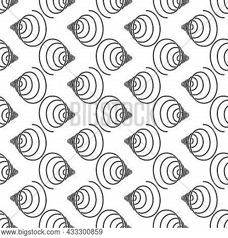 Spiral Coil Pattern Seamless Background Texture Repeat Wallpaper Geometric Vector