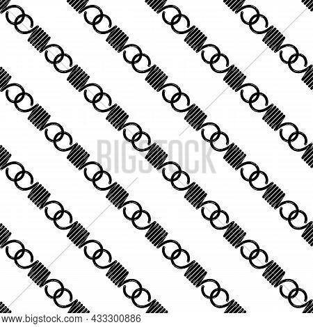 Hook Metal Spring Pattern Seamless Background Texture Repeat Wallpaper Geometric Vector