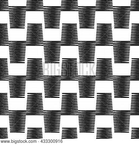 Shock Suspension Spring Pattern Seamless Background Texture Repeat Wallpaper Geometric Vector