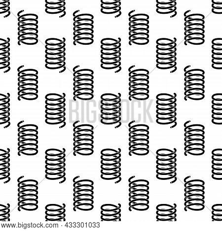 Cold Metal Spring Pattern Seamless Background Texture Repeat Wallpaper Geometric Vector