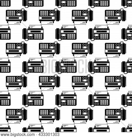 Phone Fax Top View Pattern Seamless Background Texture Repeat Wallpaper Geometric Vector