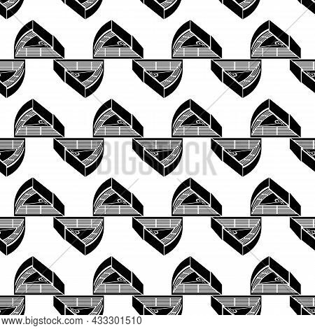 Baseball Arena Pattern Seamless Background Texture Repeat Wallpaper Geometric Vector