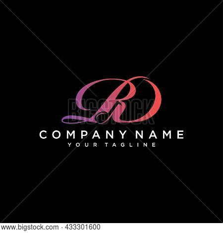 Initial Dr Or Rd Letter With Music Vector Logo. Vector Illustration