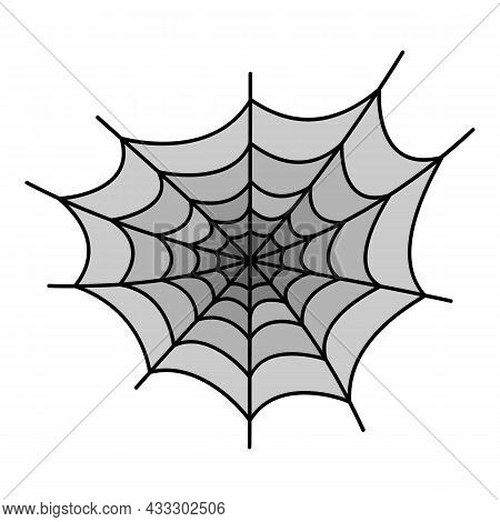 Danger Spider Web Icon. Outline Danger Spider Web Vector Icon Color Flat Isolated