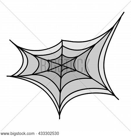 Hanging Spider Web Icon. Outline Hanging Spider Web Vector Icon Color Flat Isolated