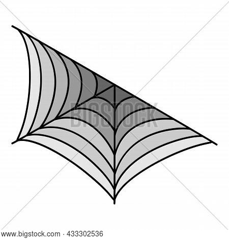 Wall Spider Web Icon. Outline Wall Spider Web Vector Icon Color Flat Isolated