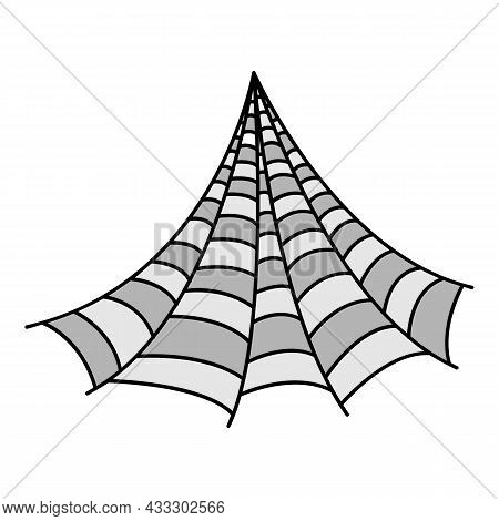 Corner Spider Web Icon. Outline Corner Spider Web Vector Icon Color Flat Isolated