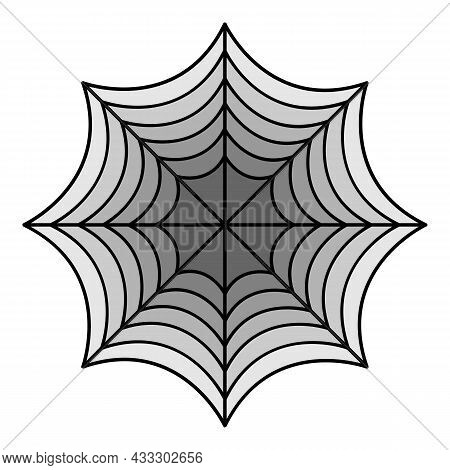 Perfect Spider Web Icon. Outline Perfect Spider Web Vector Icon Color Flat Isolated