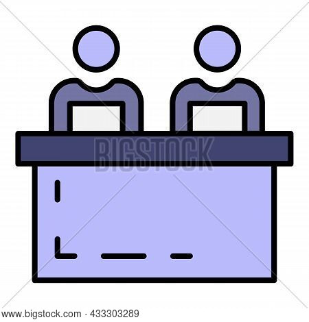 Coach Cohesion Icon. Outline Coach Cohesion Vector Icon Color Flat Isolated