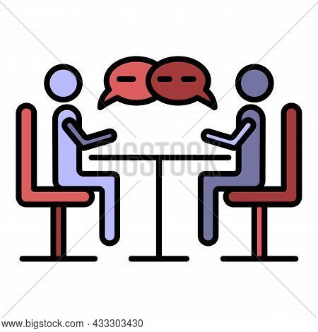 Business Negotiation Icon. Outline Business Negotiation Vector Icon Color Flat Isolated
