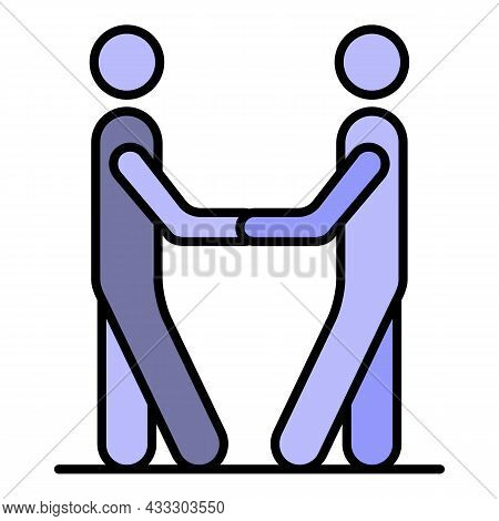 Work Relationship Icon. Outline Work Relationship Vector Icon Color Flat Isolated