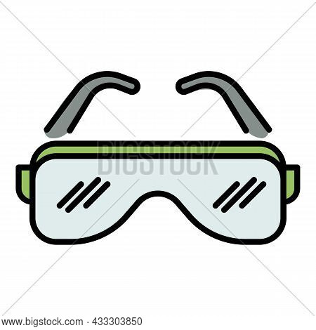 Hip Hop Glasses Icon. Outline Hip Hop Glasses Vector Icon Color Flat Isolated