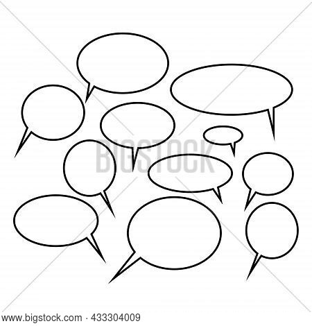 Speech Bubbles, A Concept Of Expressing The Opinion Of Society