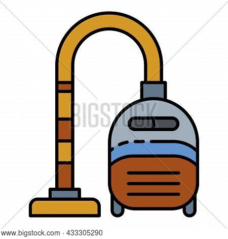 Home Vacuum Cleaner Icon. Outline Home Vacuum Cleaner Vector Icon Color Flat Isolated