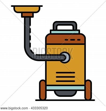 Office Vacuum Cleaner Icon. Outline Office Vacuum Cleaner Vector Icon Color Flat Isolated