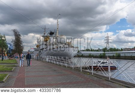 Kaliningrad, Russia - May 14, 2021: View Of One Of The Museum Ships At World Oceans Museum Complex -