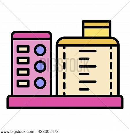 Kitchen Food Processor Icon. Outline Kitchen Food Processor Vector Icon Color Flat Isolated
