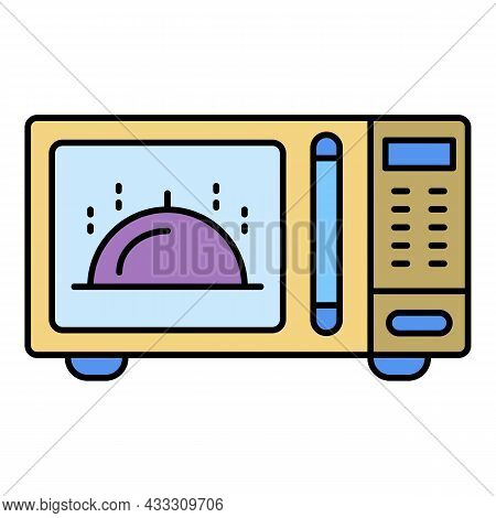 Microwave Icon. Outline Microwave Vector Icon Color Flat Isolated