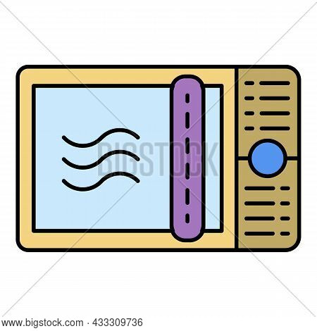 Digital Microwave Icon. Outline Digital Microwave Vector Icon Color Flat Isolated