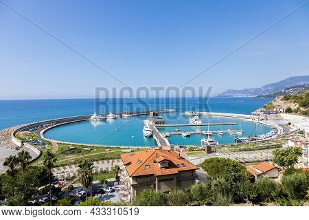 Ventimiglia, Italy - Circa August 2021: Cala Del Forte Is An Exquisite, Brand New, State-of-the-art