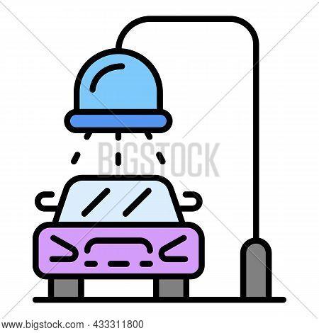 Car Wash Pillar Icon. Outline Car Wash Pillar Vector Icon Color Flat Isolated