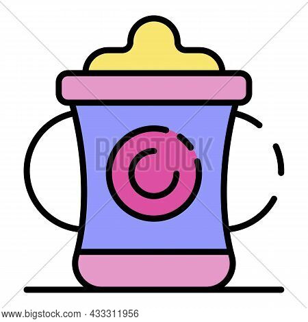 Trendy Sippy Cup Icon. Outline Trendy Sippy Cup Vector Icon Color Flat Isolated