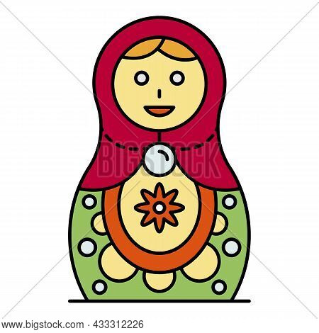 Culture Nesting Doll Icon. Outline Culture Nesting Doll Vector Icon Color Flat Isolated