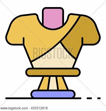 Greek Sculpture Icon. Outline Greek Sculpture Vector Icon Color Flat Isolated