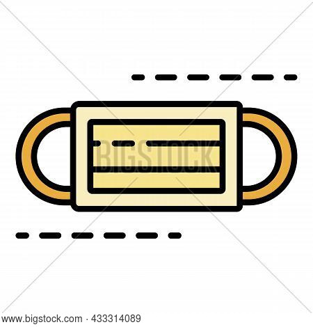 Medical Face Bandage Icon. Outline Medical Face Bandage Vector Icon Color Flat Isolated