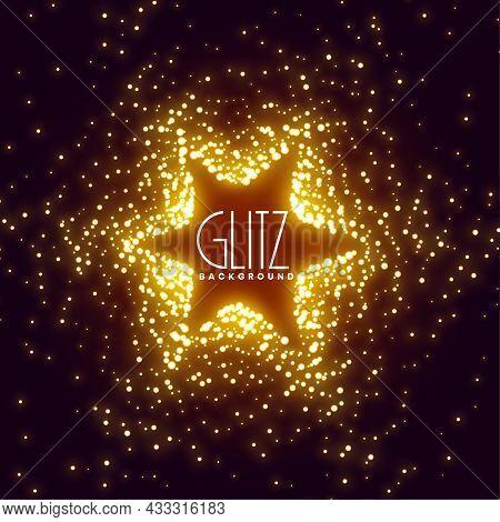 Glowing Sparkles Star Burst Background Vector Design Illustration